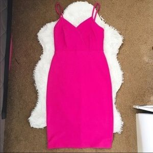 Hot Pink Bodycon dress